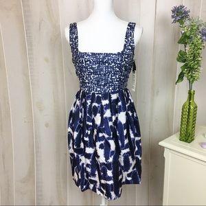 NWT BB Dakota Blue and White Patterned Dress